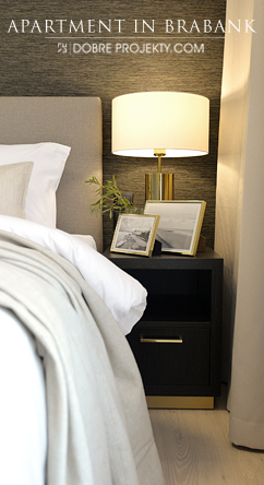 Projekt wnętrza sypialni w apartamencie w Gdańsku - Brabank